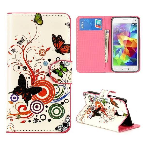 Vlinders design booktype voor Samsung Galaxy S5 mini