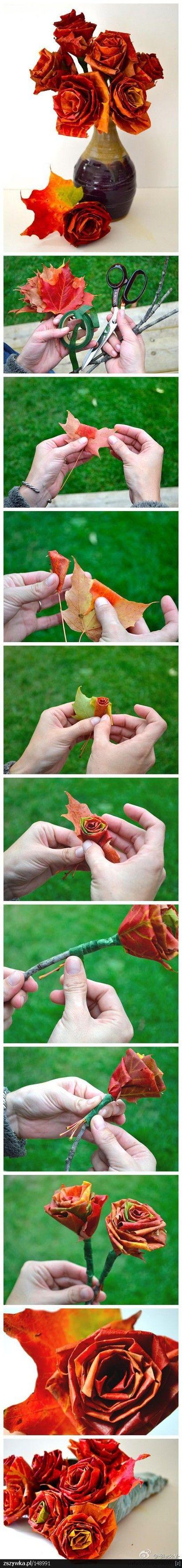 leaf roases-DIY