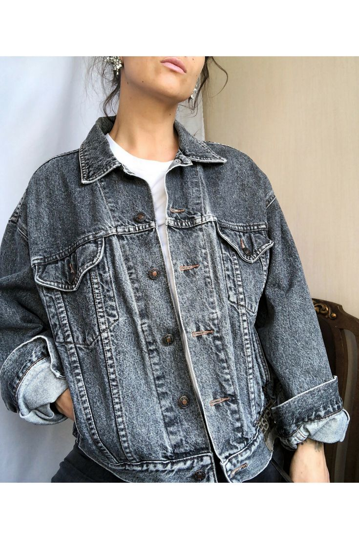 Esprit Vintage 90s Denim Jacket 1990s Jean Light Gray Wash Etsy 90s Denim Jacket Denim Jacket Denim [ 1102 x 735 Pixel ]