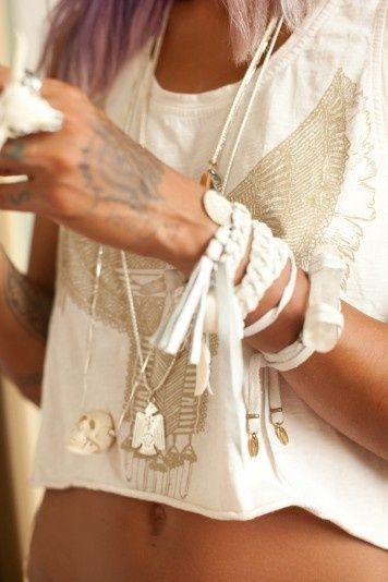 **Faire plein de bracelets couleur crème
