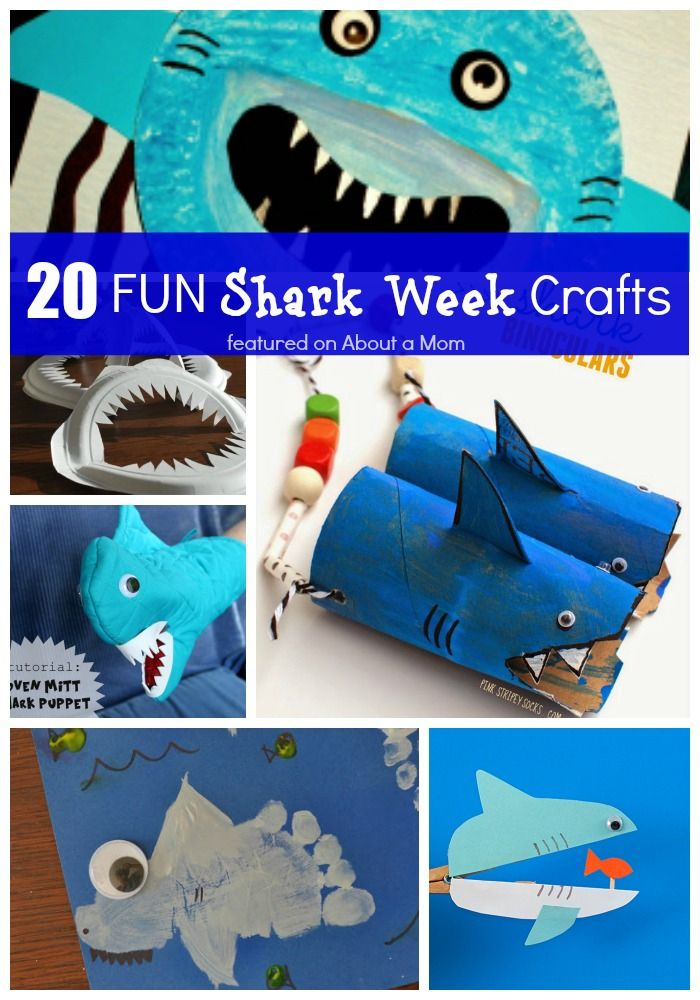 20 Fun Shark Week Crafts for Kids