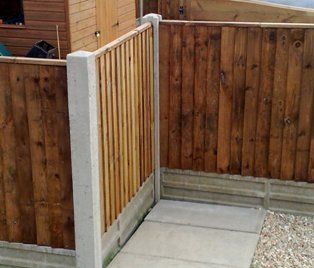 CONCRETE POST AND PANEL FENCE | FENCES