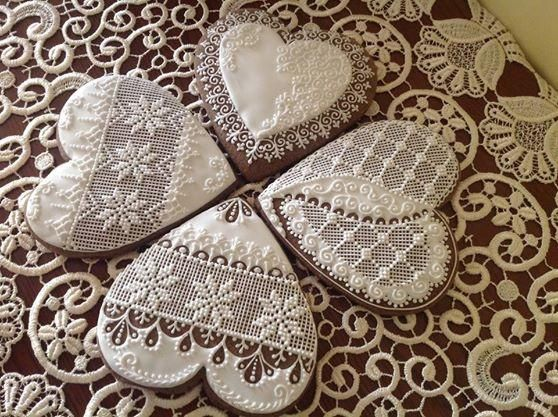 Lace Hearts   Cookie Connection