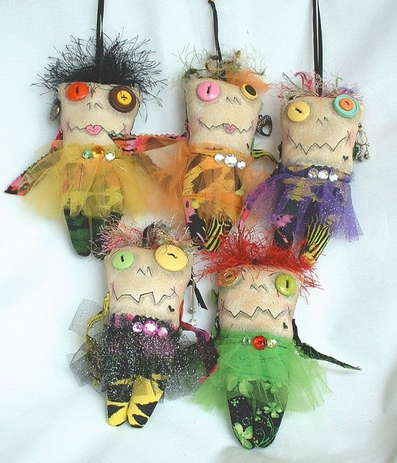 Mini Monster Voodoo Doll  Ornament A5 by FromGramsHouse on Etsy, $10.00