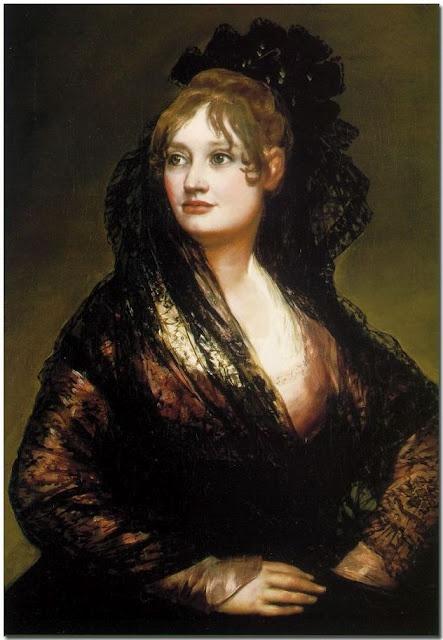 """Doña Isabel de Porcel""   before 1805 by Francisco de Goya http://www.nationalgallery.org.uk/paintings/francisco-de-goya-dona-isabel-de-porcel (Thx Marie-Louise)"