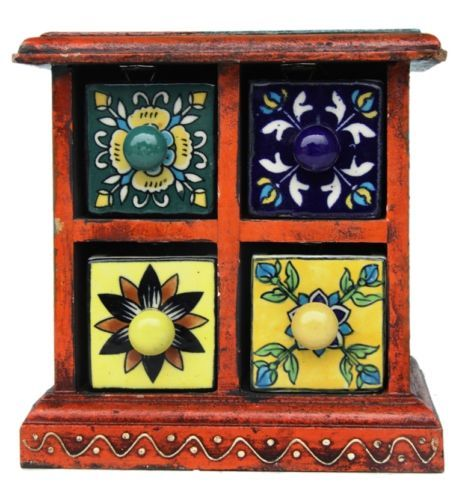 Handmade-Designer-Wooden-Ceramic-Drawer-Box-for-Home-decor