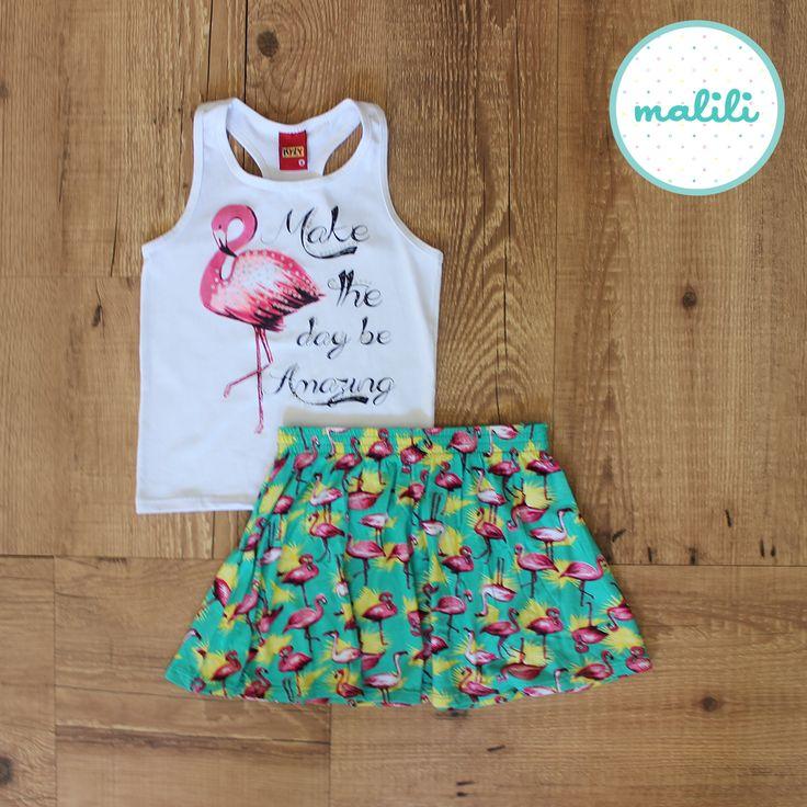Conjunto Flamingo Branco (Código 107017) R$ 70,90