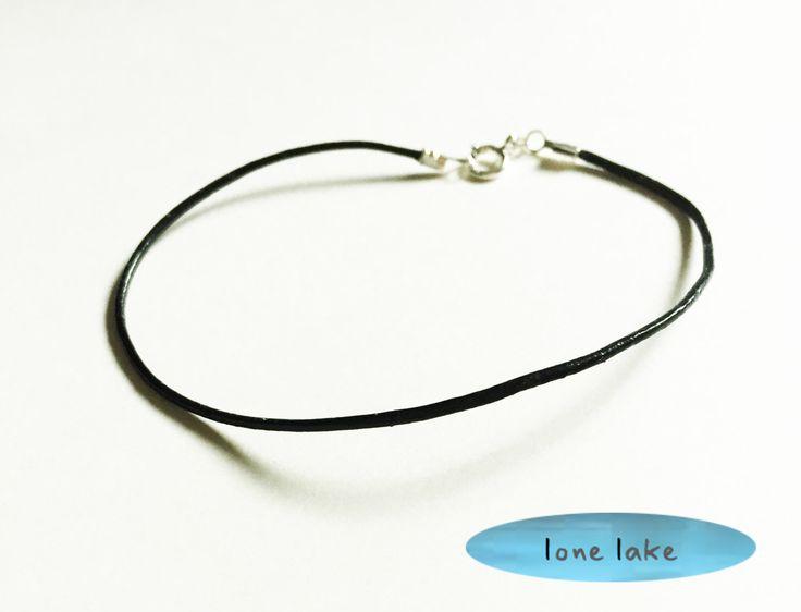 A personal favorite from my Etsy shop https://www.etsy.com/listing/231047071/black-bracelet-leather-bracelet-dainty