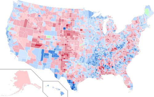 - US presidential election results by county 1992.The counties...