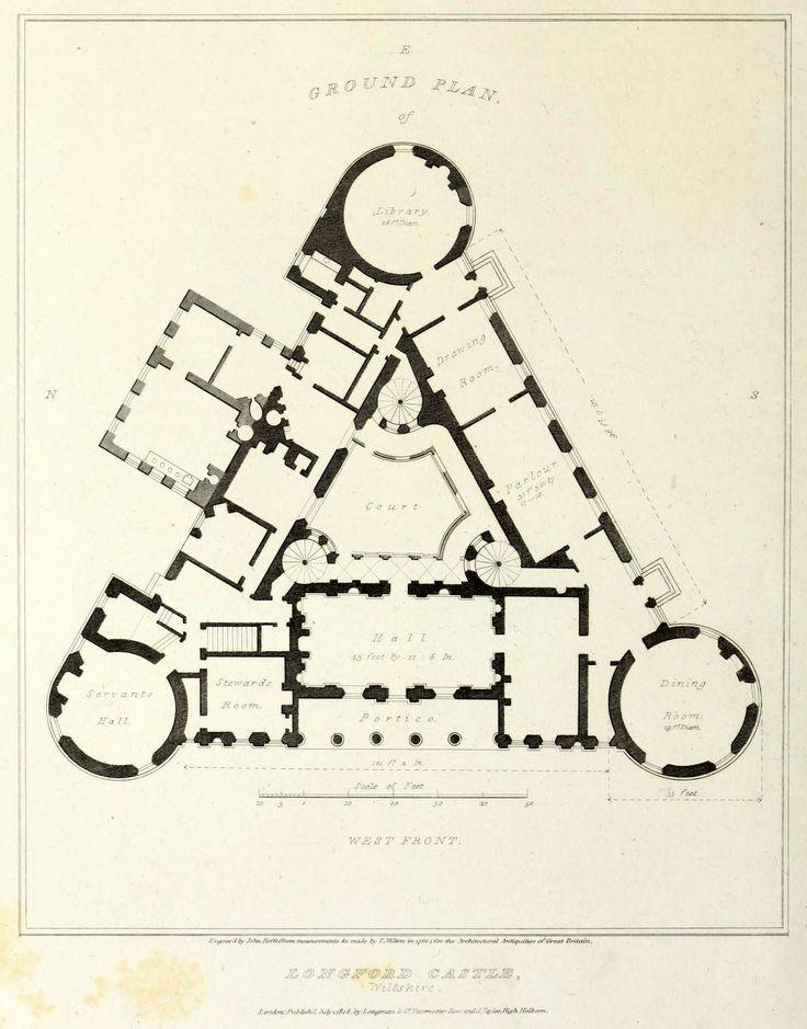 14 best old house plans images on pinterest castles for Castle plans build