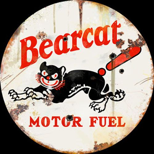 Click to find out more about Bearcat Motor Fuel Vintage Style 42 Inch Sign