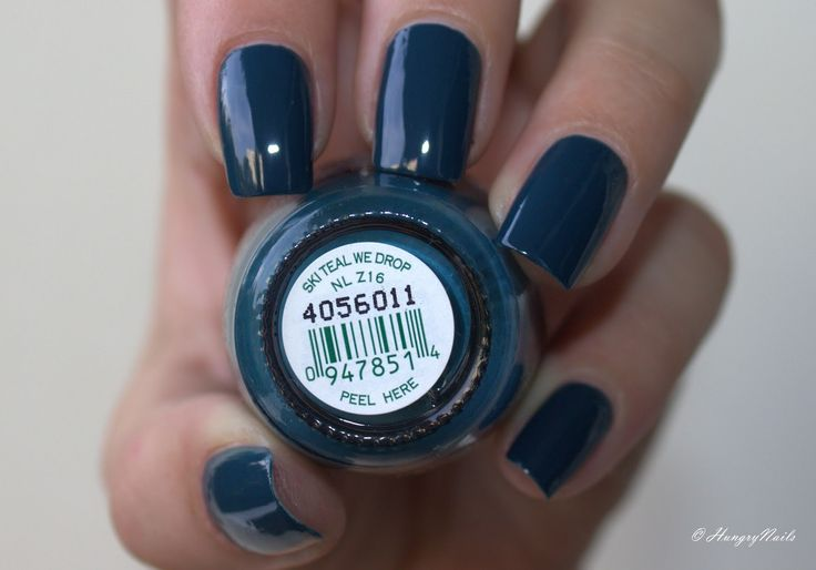 HungryNails: Swatches | OPI Ski teal we drop mit DEM Fantasy Fire
