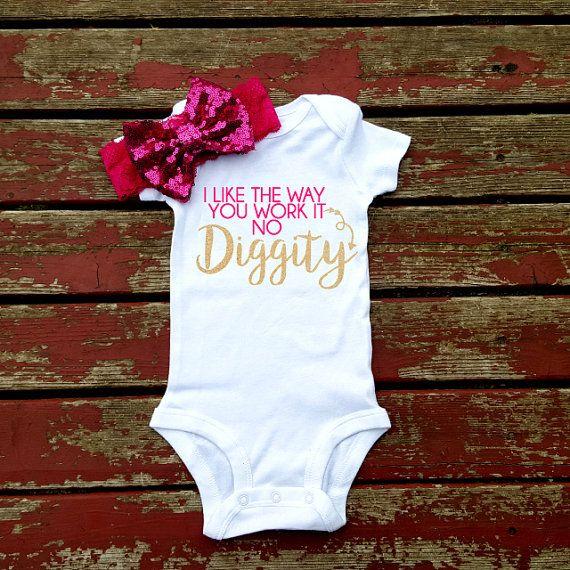 No Diggity Bodysuit Baby Girl Girls Toddler by GLITTERandGLAMshop