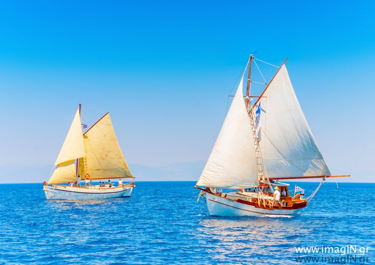 created by www.imagIN.gr during a regatta for traditional wooden sailing boats at Spetses island in Greece. You can find and buy more pictures here:  http://imagingr.smugmug.com/PORTFOLIO/STOCK http://www.shutterstock.com/g/imaginphotography?rid=695935 http://www.dreamstime.com/psychni_portfolio_pg1#res4273707 http://www.fotolia.com/p/203009957/partner/203009957