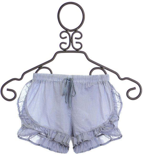 Sticky Fudge Stripe Ruffle Shorts (Size 2/3)