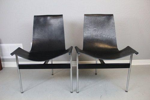 William Katavolos T-Chairs - Black