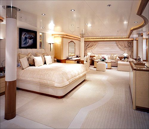 cabin in the luxury yacht in our new global world - Inside Luxury Bedrooms