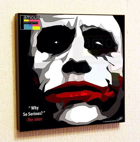 The Joker Pop Art Wall Decor Batman Art Design By