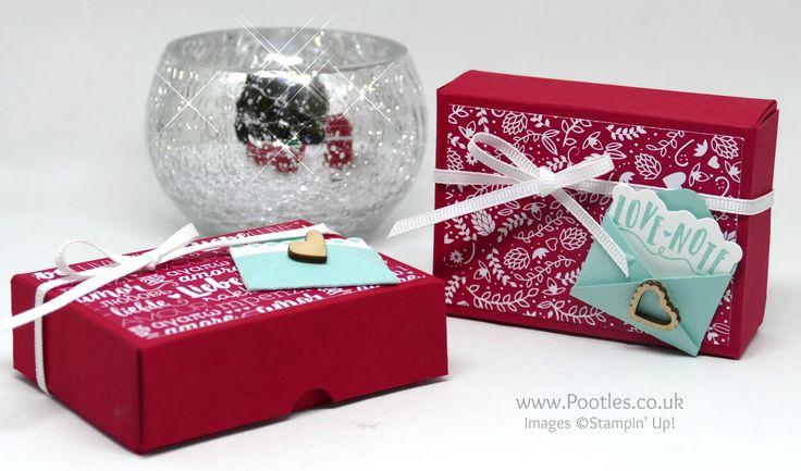 Sealed With Love, Love Notes Framelits, Sending Love DSP, Ribbon Combo Pack & Embellishments - Fold Flat Box