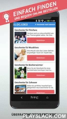 """Geschenkideen Einfach Finden  Android App - playslack.com , Die beliebte Geschenkideen-App für Android. Locadeo findet passende Geschenke und Erlebnisse für deine Freunde und für dich. Ob Geschenkideen für Freunde, Partner, Bekannte, deine Mutter oder die ganze Familie. In dieser Geschenke-App findest du bestimmt das perfekte Geschenk, auch zu Weihnachten.ACHTUNG: Mit Facebook-Login macht Locadeo mehr Spaß – funktioniert aber auch ohne! Einfach auf """"Ich habe kein Facebook klicken"""".UND: In…"""