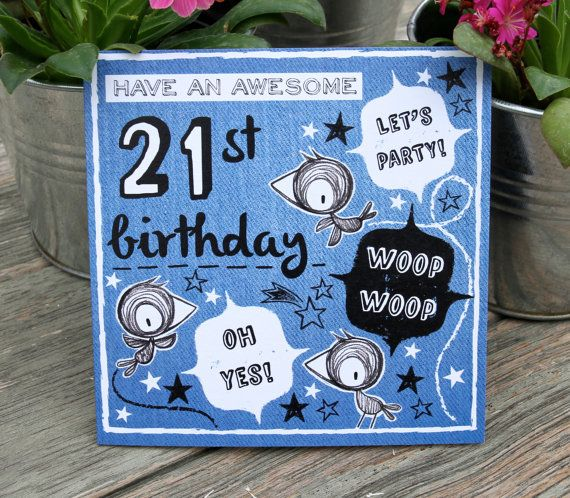 81 best age birthdats images on pinterest birthdays diy cards and 21st birthday card for boys by ohmystudio on etsy bookmarktalkfo Images