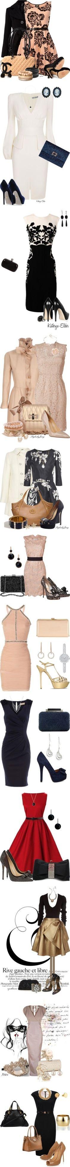 classy A line dresses