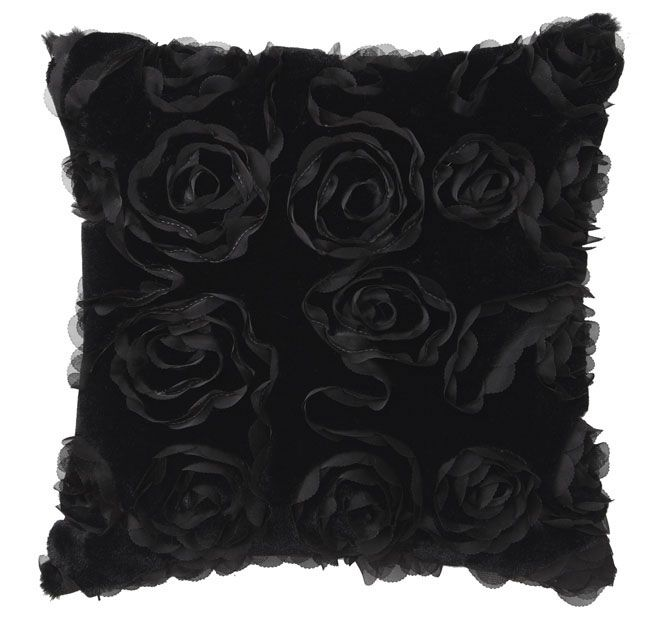 rosa-41x41cm-filled-cushion-black