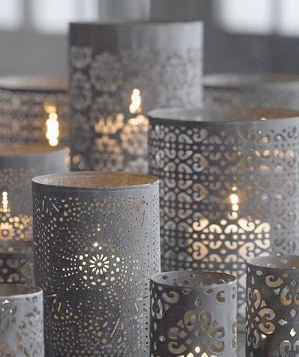 Can't find a candle votive in your wedding color? Try painting them! #graywedding #weddingdecor #weddingideas: Idea, Pre Punch, Candles Holders, Prepunch Paper, Centerpieces, Lanterns, Glasses Cylinder, Crafts, Knock Off