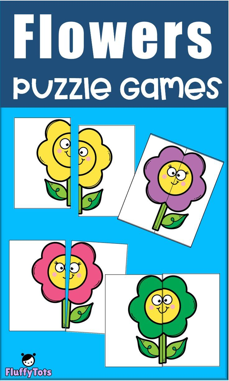 Flowers Puzzle Games Free 8 Super Simple Puzzles For Your Toddlers And Preschoolers Matching Games For Toddlers Games For Toddlers Folder Games For Toddlers
