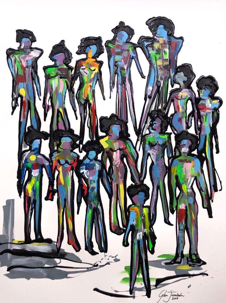 Contemporary Nation on paper 1m x 700mm #contemporaryart #abstractart #painting #modernart
