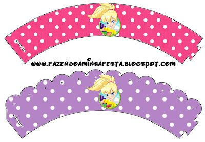 Making My Party!: Polly Pocket - Complete Kit with frames for invitations, labels for goodies, souvenirs and pictures!