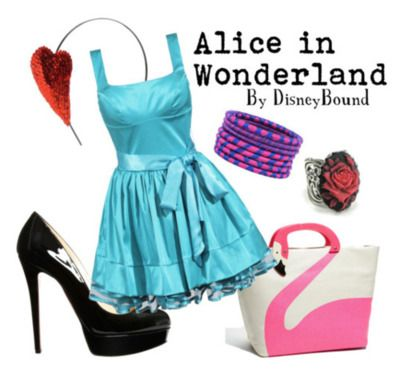 in love with this dress and shoes!: Inspiration Outfits, Disney Outfits, Alice In Wonderland, Disney Inspiration, Disney Bound, Disneybound, The Dresses, Aliceinwonderland, Disney Fashion