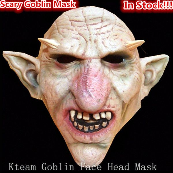 Hot Sale Men Latex Scary Mask Goblins Big Nose Horror Mask Creepy Costume Party Cosplay Props Scary Masks for Halloween in stock