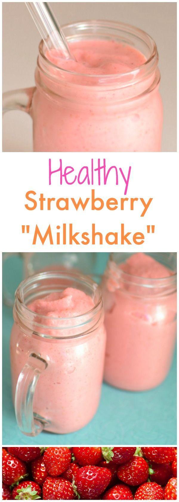 Guilt Free Strawberry Milkshakes
