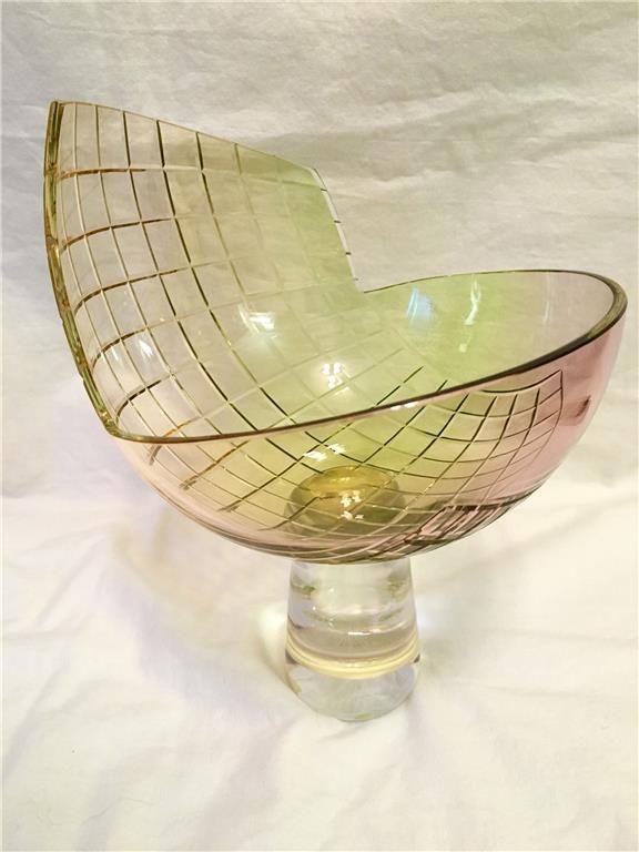 Sweden Kosta Boda Kjell Engman art glass Vase bowl limited signed Decor #KostaBoda #KjellEngman