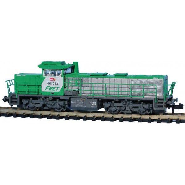 Locomotive échelle N : DIESEL BB461013, FRET SNCF, LOGO CARMILLON AVEC BLOC CLIM, EP VI