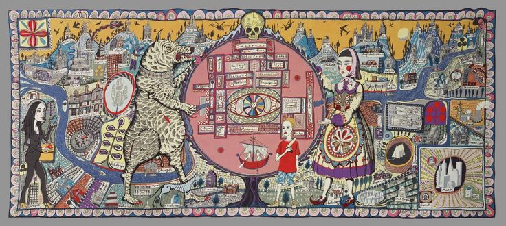 Grayson Perry tapestry - Map of Truths and Beliefs