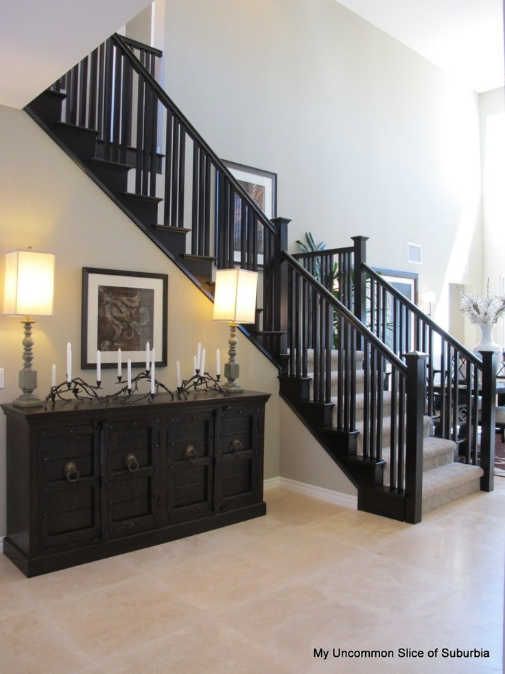 Best Black And White Model Home Tour Black Stairs Black 400 x 300