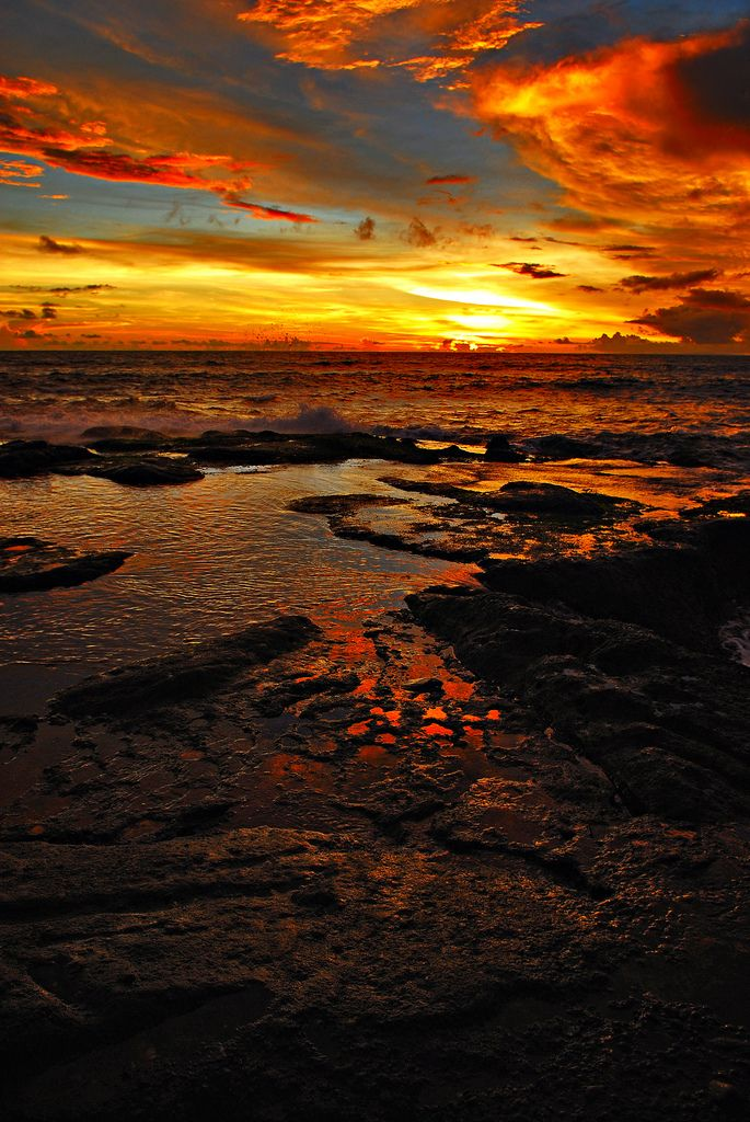 Sunset in Tanah Lot, Bali, Indonesia