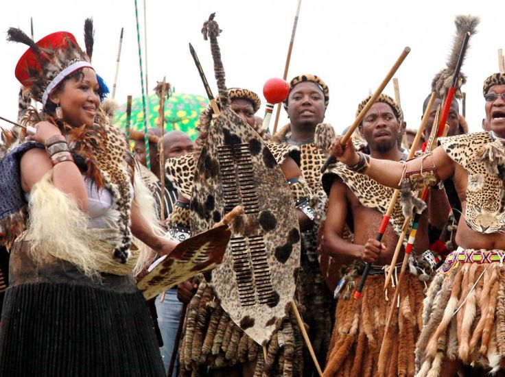 Zulu:  A traditional Zulu wedding includes colorful clothing and lots of dancing between the bride's and groom's families. The bride typically wears tribal garb at the reception.