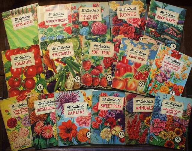 Mr Cuthbert's gardening guides 1953, sold at Woolworth's.  Only 16 books are shown here - I have the full set of 20!