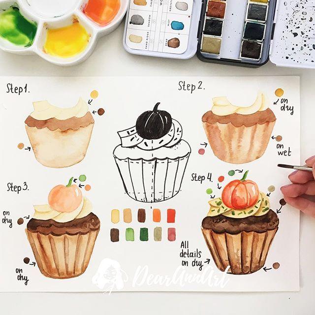 Cupcake Gateau Illustration Gateau Dessin Aquarelle Nourriture
