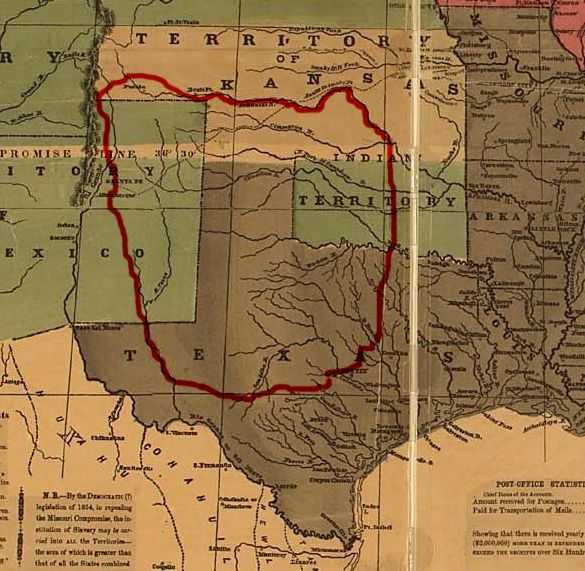 Every heard of Comancheria? Before the 1860s, it as the area of what is now Texas, New Mexico, and Oklahoma dominated by the Comanche people.