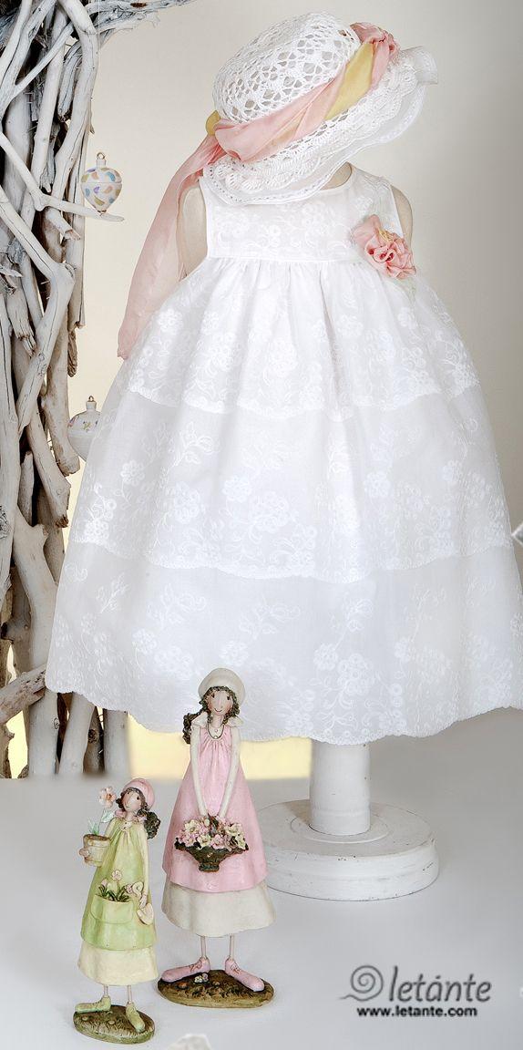 Christening dress Βαπτιστικο φορεμα Letante