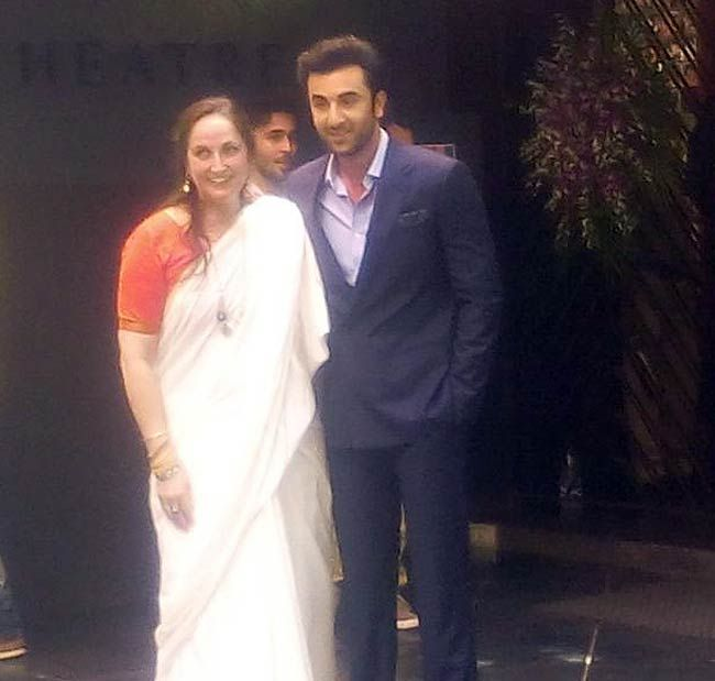 Ranbir Kapoor poses with Sanjana Kapoor at the Dadasaheb Phalke Awards ceremony. #Bollywood #Fashion #Style #Beauty #Handsome