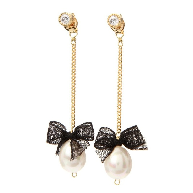 Ribbon & Pearl Earrings--very pretty, although quite long. I love the ribbons!