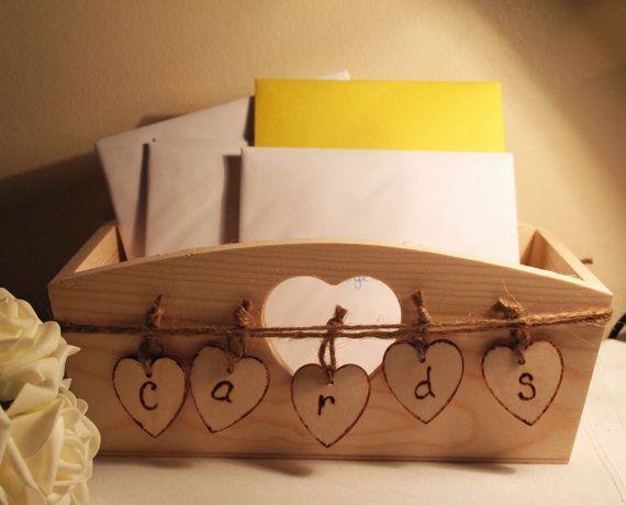 Wedding Card Box Rustic Wooden Box by Melysweddings on Etsy, £23.00