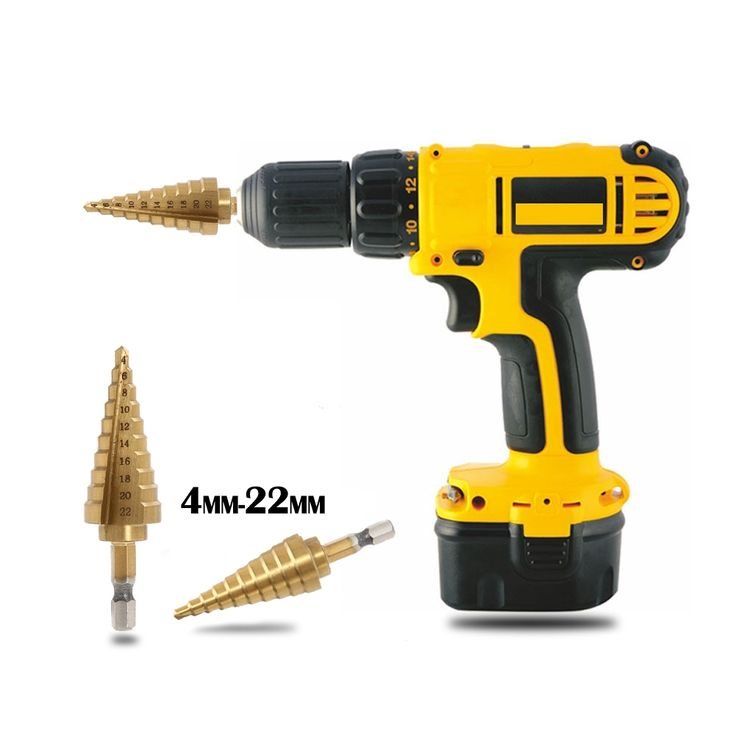 2.4$  Buy here - 4-22MM HSS High Speed Steel 4241 Hex Titanium Step Drill Cone Drill Bit Hole Cutter for Sheet Metal Wood Drilling Power Tools    #buyininternet