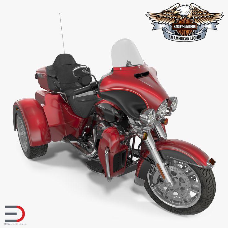 Harley Davidson Tri Glide 2016 Rigged