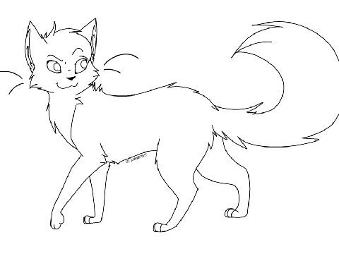 warrior cat cartoon coloring pages - photo#23